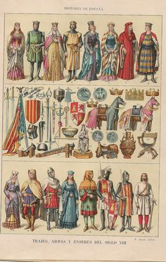 History of Spain: Fashions of the 13th Century.