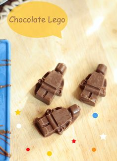 For your next Lego party - or any other day - here is an idea: Chocolate Lego Minifigs.
