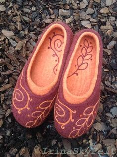 natural felt wool hand-made shoes