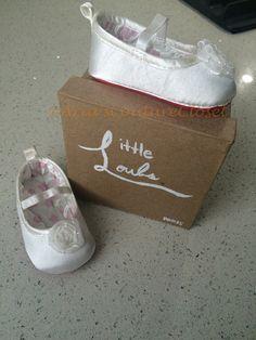 Newborn white SASHA'S Red Bottom Baby Shoes by AriasCoutureCloset