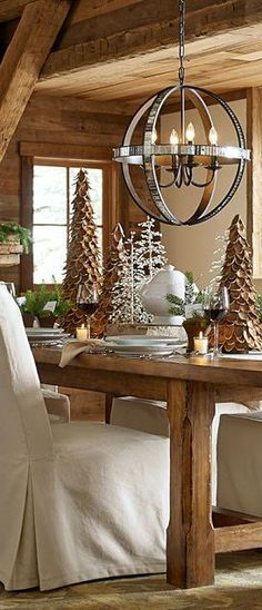Cabin Christmas On Pinterest Log Cabin Christmas Cabin