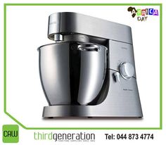 The #Kenwood Titanium Major 1500WATT mixer is perfectly suited for preparing large quantities of soft breads, creamy cakes and delicious pastries. Available from #ThirdGenerationCAW. #Appliances