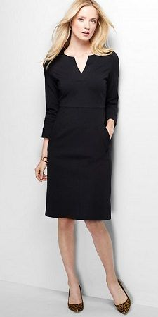 Thursday's Workwear Report: 3/4 Sleeve Ponté Sheath Dress - Corporette.com
