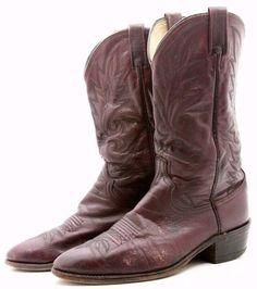 Dan Post Mens Cowboy Boots Size 10 EW Wide Red Leather Western USA Vintage Wide #DanPost #CowboyWestern