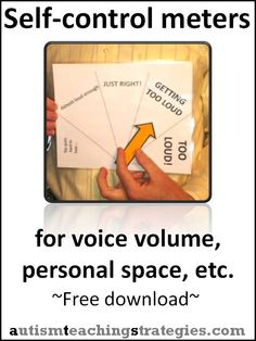 Children with Asperger's and other autism spectrum disorders often have difficulties with voice volume and personal space. Here I provide very easy download kits to create useful visual devices.
