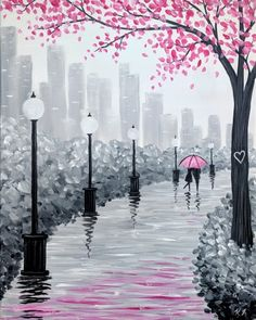 Join us for a Paint Nite event Wed Feb 2019 at 340 Hartz Avenue Danville, CA. Purchase your tickets online to reserve a fun night out! Simple Canvas Paintings, Small Canvas Art, Easy Canvas Painting, Diy Canvas Art, Blank Canvas, Easy Paintings, Landscape Paintings, Canvas Painting Tutorials, Oil Pastel Art