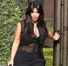 Kim Kardashian does maternity wear... in a see-through onesie. Would you go there? http://www.mamamia.com.au/entertainment/fluff-kim-kardashians-maternity-onesie/