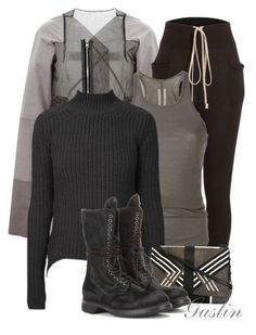 """fall"" by stacy-gustin ❤ liked on Polyvore featuring Rick Owens and ootd"