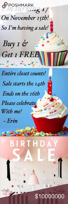 Thank you for all the birthday wishes!! To celebrate my 17th birthday, I'm having an entire closet sale! Celebrate with me! This sale ends the 16th!! Calvin Klein Other