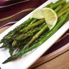 Garlic Asparagus with Lime