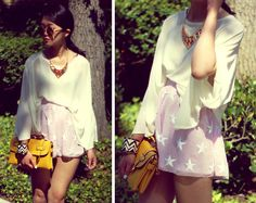 I love the necklace!  --Seeing stars (by Analisa Nguyen) http://lookbook.nu/look/3521455-seeing-stars
