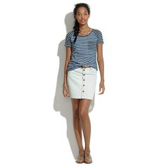 Summer! - Denim Button Mini - SKIRTS - Women's Madewell_Shop_By_Category - Madewell