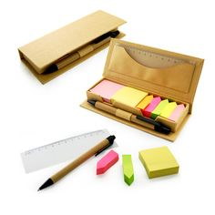 JSS1008 - Eco Friendly Sticky Pad With Ruler And Pen doorgifts.asia