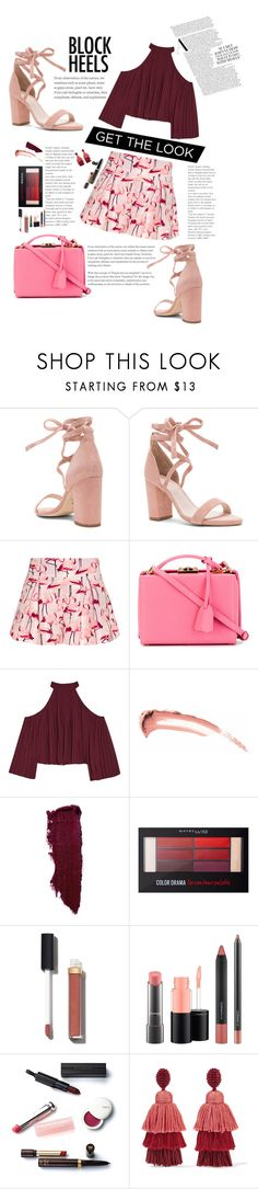 """""""Block ::heels"""" by pretty-posh-luxe ❤ liked on Polyvore featuring Raye, RED Valentino, Mark Cross, W118 by Walter Baker, Maybelline, Chanel, MAC Cosmetics, Christian Dior and Oscar de la Renta"""