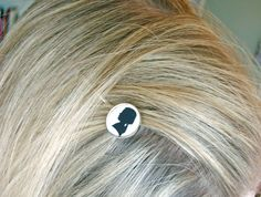 Custom Silhouette Hair pin by nelladesigns