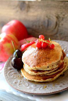 pancakes avena e mele