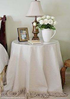 DIY small round tablecloth