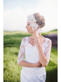 ivory bridal crown