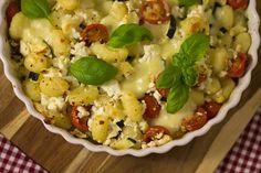 Gnocchi-Gemüse-Auflauf mit Fetakäse