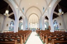 An amazing ceremony location, what a beautiful church.