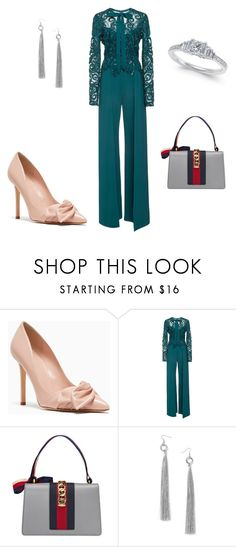 """""""raina"""" by lilllus09 on Polyvore featuring Elie Saab, Gucci and Miss Selfridge"""
