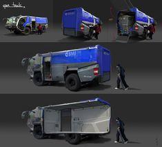 ArtStation - si-fi truck, Alex Shin