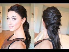 """Crisscross """"Ponytail"""" Hairstyle"""