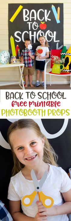 Printable Back To School Photobooth Props Back To School Party, Back To School Crafts, Welcome Back To School, Back To School Teacher, Meet The Teacher, Beginning Of School, School Parties, School Fun, First Day Of School