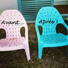 Comment peindre des chaises de jardin en plastique | jardin ...