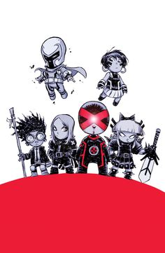 Here is the official Scottie Young baby variant to uncanny X-Men 1!!