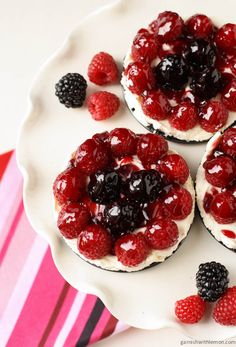 Mascarpone Tarts with Fresh Berries