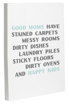 HauteLook | In Demand: Whimsical Art, Totes & Pillows: Good Moms Happy Kids Wall Decor