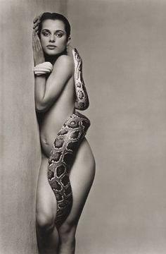 Nastassja Kinski, and the Serpent - June 1981 - Los Angeles, California - Vogue US - Photo by Richard Avedon