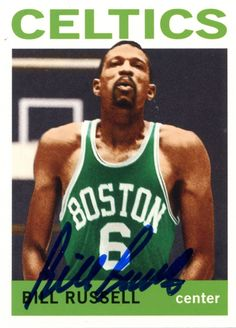 Bill Russell Autographed Basketball - 2007 Topps No Card Celtics Basketball, Basketball Quotes, Basketball Legends, Basketball Cards, Boston Celtics, Celtic Pride, Bill Russell, Boston Sports, Larry Bird