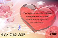 ¡Concursa con nosotros! Date un capricho ahora en San Valentín  En breve os contamos cómo www.clinicavallehermoso.com