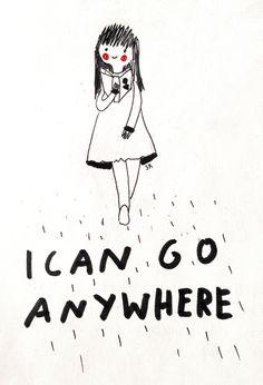 I can go anywhere // Saskia Keultjes