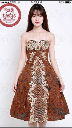 Model Dress Batik, Batik Dress, Batik Kebaya, Evening Dresses, Prom Dresses, Blouse Batik, Salsa Dress, Batik Fashion, I Dress
