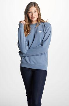 6ce03d96ed840 Denim Embroidered Crew Neck Sweatshirt – Ivory Ella Crew Neck Sweatshirt