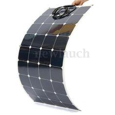 Semi-Flexible-Monokristallin-120W-12V-Solarpanel-Solarmodul-Solarzelle