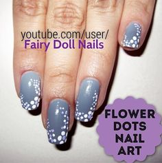 Easy dotted flowers with accent dots nail art design using dotting flower dots nail art floral nail art design thats great for beginners or anyone who wants prinsesfo Images