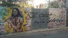 Grafiti El cristo de los solares. Street art. Urban art. Arte callejero.
