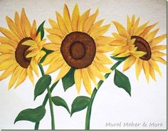 How To Paint Sunflowers . . . Again