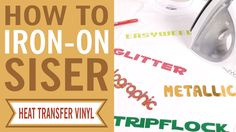 Did you know that you could use a regular household iron to permanently apply Siser Heat Transfer Vinyl? Maybe you can't with competitor materials, but Siser heat transfer vinyl goes on easily and stays in place - wash after wash!  To learn more about Siser heat transfer vinyl, visit http://www.siserna.com/heat-transfer-... or talk to your nearest Authorized Siser distributor. How to iron heat transfer vinyl. How to use heat transfer vinyl. DIY HTV.