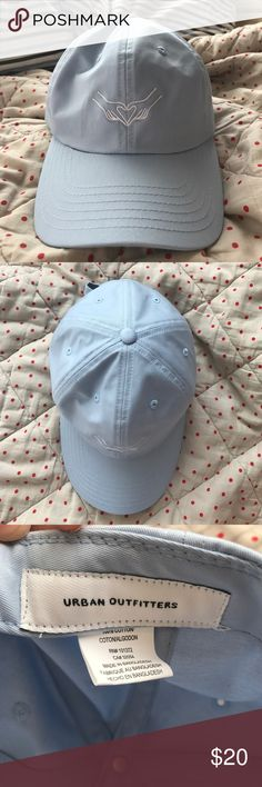 Brand new hat from Urban Outfitters. Light blue baseball-like cap with two hands creating a heart symbolizing Pride Month🌈! Urban Outfitters Accessories Hats
