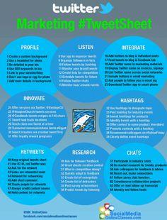 Infographics Twitter Marketing  #TweetSheet