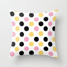 dots - girl Throw Pillow
