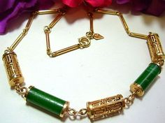 Vintage Sarah Cov Asian Necklace Signed by BrightgemsTreasures, $24.50