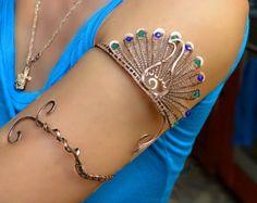brazalete superior del brazo pulsera de oro joyería de la