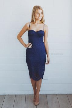 Elle Dress - Royal Blue