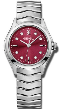Ebel Watch Wave Ladies #add-content #basel-17 #bezel-fixed #bracelet-strap-steel #brand-ebel #case-material-steel #case-width-30mm #delivery-timescale-call-us #dial-colour-red #gender-ladies #luxury #movement-quartz-battery #new-product-yes #official-stockist-for-ebel-watches #packaging-ebel-watch-packaging #style-dress #subcat-wave #supplier-model-no-1216381 #warranty-ebel-official-2-year-guarantee #water-resistant-50m
